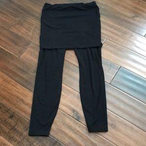 CAbi Black Leggings with Skirt XS